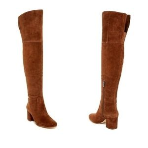 VIA SPIGA Finlay Suede Leather Over the Knee Boots